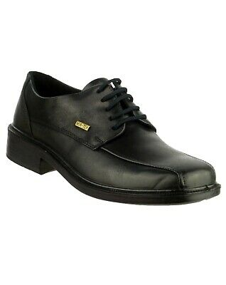 Cotswold Stonehouse black leather waterproof lace up shoe