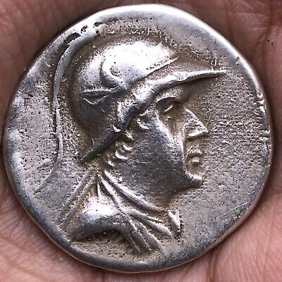 Ancient Solid Silver Old Roman King Coin Unique Coin 13.4 Grams