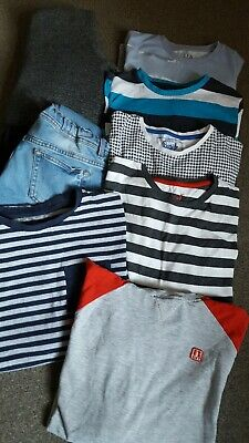 AGE 12-13 Boys BUNDLE  tshirts  jeans coat / jacket & long sleeved tops JOB LOT