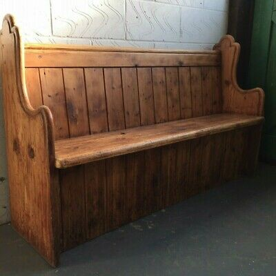 Antique Church Pew Bench reclaimed from Northamptonshire chapel