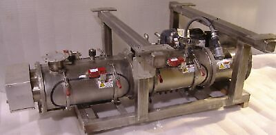 Double arm continuous mixer extruder feeder Wenger stainless 5hp