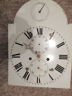 """8 Day Longcase / Grandfather  Movement With Brass Dial Plate 12 X 16.5"""""""