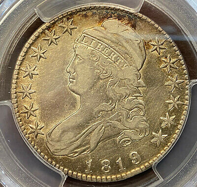 1819/8 50¢ Bust Half Large 9 PCGS VF Detail Cleaned Overton 105