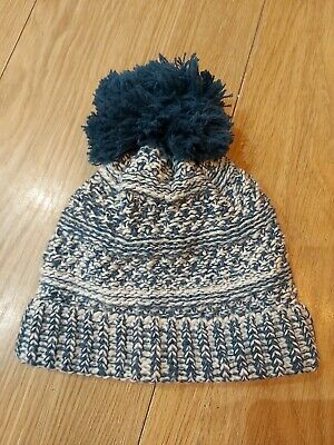 ♡Gorgeous Baby Boys Teal Bobble Hat - From F&F - 12-24 Months - Worn Once♡