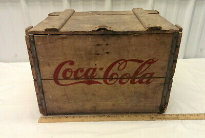 COCA COLA WOOD CASE 1936 RARE with wire hinges and snap lock
