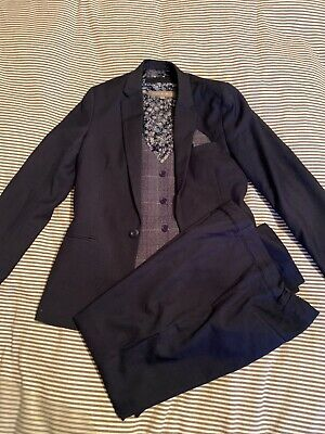 Boys Navy Suit 12-13 years 3pc immaculate John Rocha