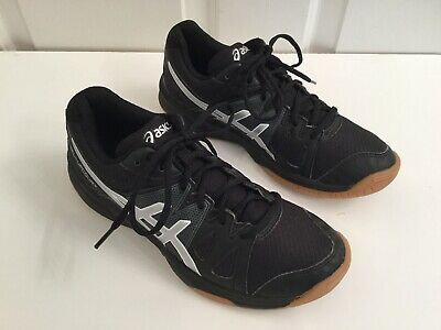 Asics Gel Upcourt Girls Black/silverVolleyball/running Sneakers Sz 5 1/2