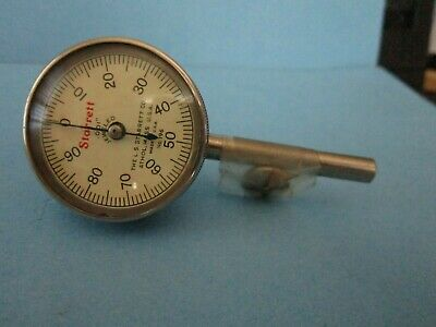 Vintage Starrett No 196 Dial Test Indicator w Dovetailed Wooden Case Made in USA