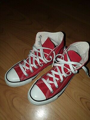 Converse Red Hi Top Trainers Size Uk 5