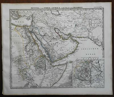 East Africa Middle East Arabian Peninsula Holy Land Palestine 1867 Stieler map