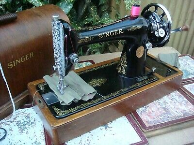 Antique Old Vintage Hand Crank Singer sewing machine Model  66K See Video