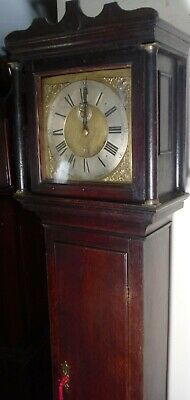 "Antique Oak  Brass  Dial "" Gloucester ""   Longcase / Grandfather Clock"