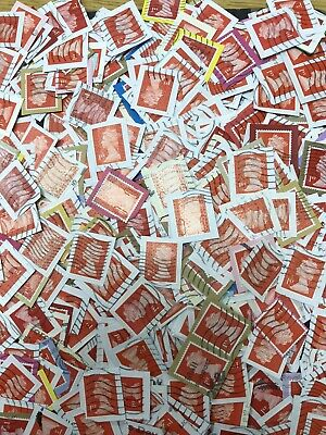 GB Machin Charity Kiloware, 60 Grams (Approx 500) Red Security Stamps.