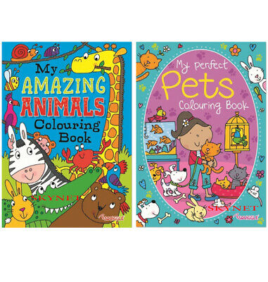 "New A4 Colouring /& Sticker Books Amazing /""Animals /& Pets/"" Sticker Books 2803"