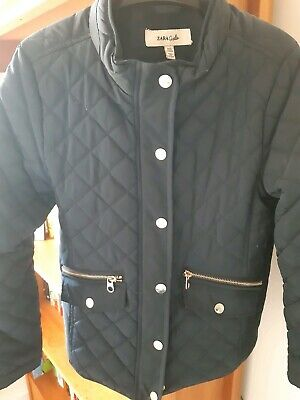 Zara Girls Navy Quilted Jacket Age 9-10 Years