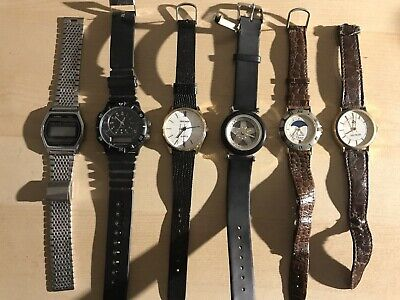 Vintage Casio SA-50, 145 LCD Digital Watch + 5 other watches job lot