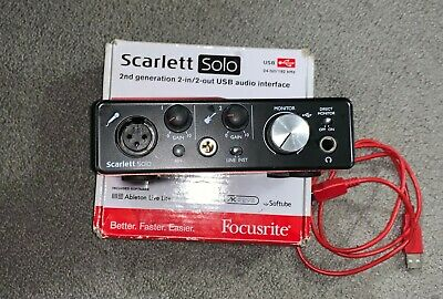Focusrite 2nd Generation Scarlett Solo USB Audio Interface