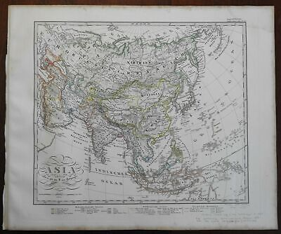 Asia Ottoman Empire India China Japan Korea Russia Malaysia 1867 Stieler map