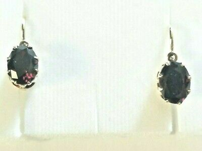 Antique Imperial Russian  earrings, Gold 56, Garnets