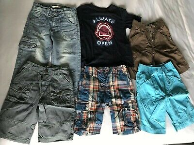 VGC BUNDLE OF SHORTS x5 AND TSHIRT AGE 5 NEXT, GAP, JOHN LEWIS,ST. GEORGE DUFFER