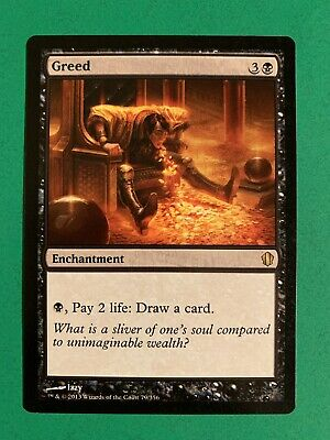 4 PreCon Greed Black C13 Commander 2013 Mtg Magic Rare 4x x4