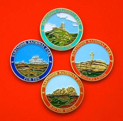 A Set of 4 Limited Edition Dartmoor Geocoins - 2016 to 2019