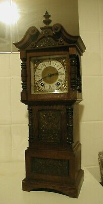 Unusual Rare Lenzkirch Two Train Mini Longcase For Repair