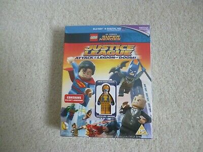 LEGO DC SUPER HEROES JUSTICE LEAGUE DVD Blue-Ray Inc MINI FIGURE BNiB