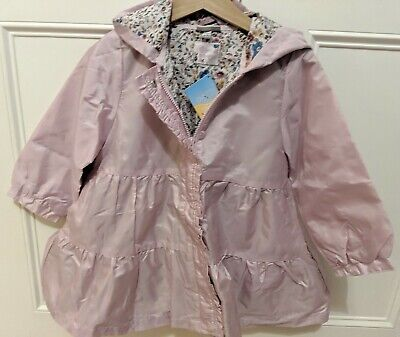 NEW Girls Kids Hooded Windbreaker Outwear Coat Jacket Overcoat Raincoat Age 2-3