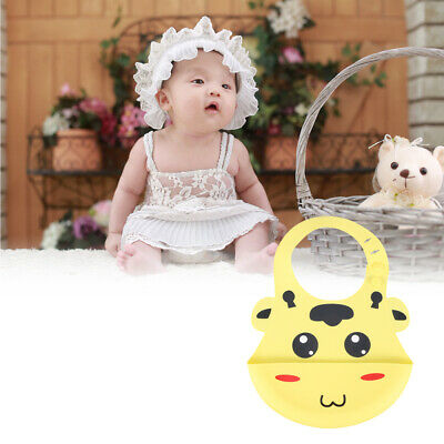 1pc Baby Bib Silicone Practical Soft Bib Food Catcher Eating Protection for Baby