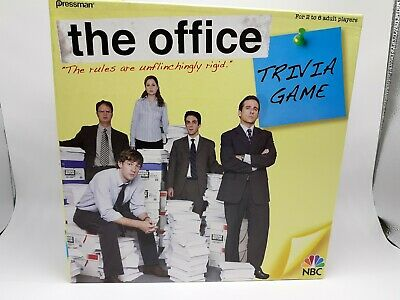 The Office Trivia Board Game Dunder Mifflin Wristband Complete mostly unopened