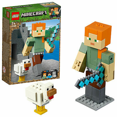 Lego 21149 Minecraft Alex BigFig with Chicken Set (Retired)