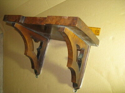 antique bracket clock shelve walnut veneer