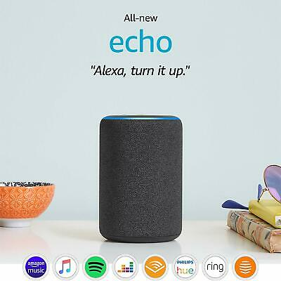 All New 2019 Amazon Echo (3rd Gen) | Smart Speaker with Alexa, Charcoal Black