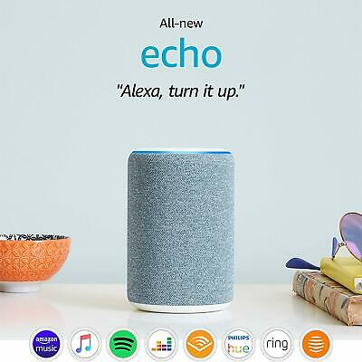 New Amazon Echo (3rd Generation) Smart Speaker with Alexa Twilight Blue / White