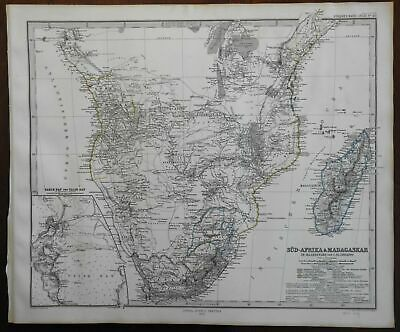 South Africa Madagascar Cape Colony Transvaal Republic Boers 1867 Stieler map