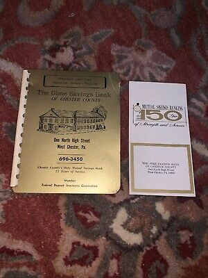 The Dime Savings Bank Of Chester County 1966 Personal Directory Book And Pamplet