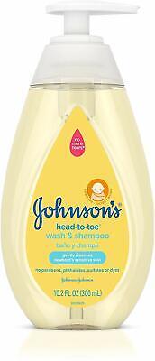 2 Pack Johnsons Head To Toe Wash & Shampoo Gently Cleanses 10.2 Ounces Each
