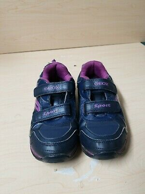 Geox Sort Girls Navy and Purple Athletic Shoes Size 32 (US 1)