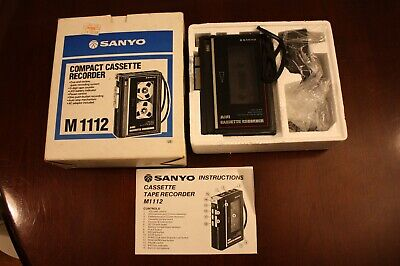 Sanyo Compact Cassette Recorder M1112 With Box And Manual