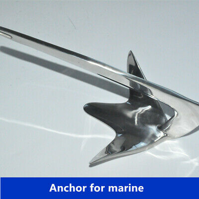 ISURE MARINE  5kg Stainless Steel Bruce/Claw Boat Anchor, Boats
