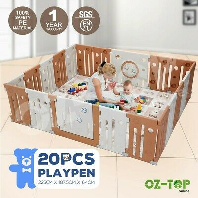 20 Sided ABST Panel Baby Playpen Interactive Kids Toddler Safety Gates with Lock