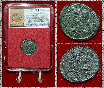 Ancient Roman Empire Coin Of CRISPUS Two Bound Captives Museum Quality Coin