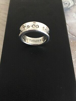 Tiffany & Co. Sterling Silver 1997 T & Co. 1837 Ring Size 7 925