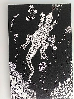 "aboriginal dot art, indigenous. Title ""Dirawong"" Means Spirit of Goanna."
