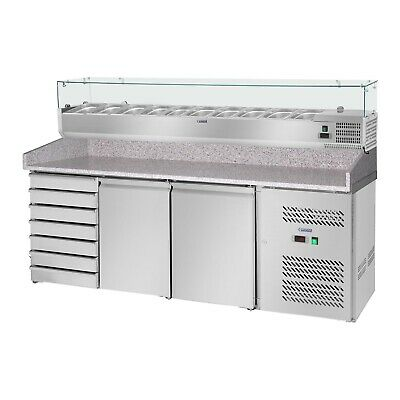 Pizza Cooling Table Saladette Refrigerated Counter Fridge Attachment 702 L 2 D