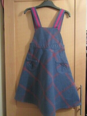 Joules Girls Age 4 Years Blue / Pink Pinafore Dress