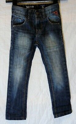 Boys Next Mid Blue Whiskered Denim Adjustable Waist Skinny Fit Jeans Age 5 Years