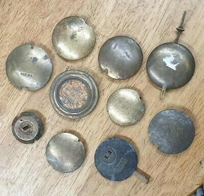 Useful Assortment Of 10 Old Clock Pendulums/Bobs-No Reserve!
