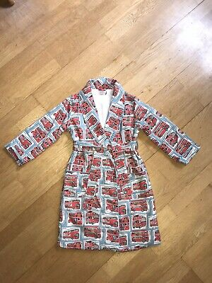 Cath Kids/Cath Kidston Nwot Age 3/4 London Bus Flannel Dressing Gown